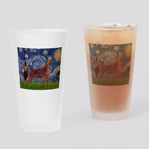 Starry Night Irish Setter Drinking Glass